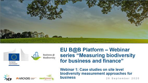 LIFE Institute presents business case on EU Business and Biodiversity webinar