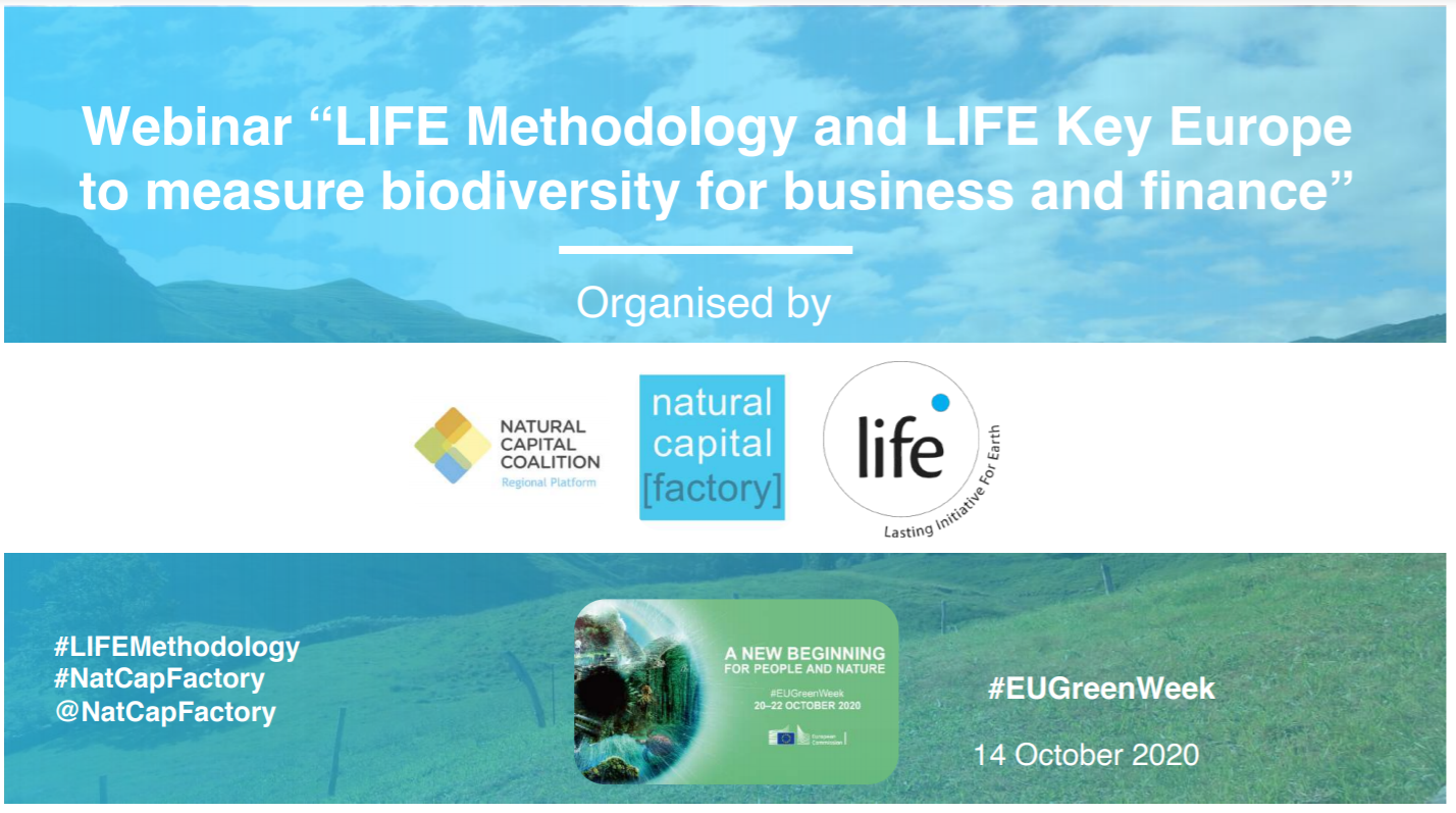 LIFE Institute and Ecoacsa promoted webinar during the European Green Week